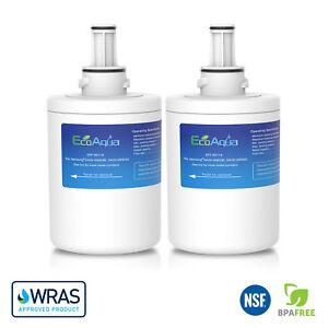 2-x-EcoAqua-RSG5UUMH-Ice-amp-Water-Fridge-Filter-for-Samsung-Aqua-Pure-PLUS