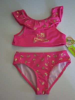 Penelope Mack 18M Infant Toddler Girls 1 Pc Swimsuit Pink Ruffle Palm Tree NWT
