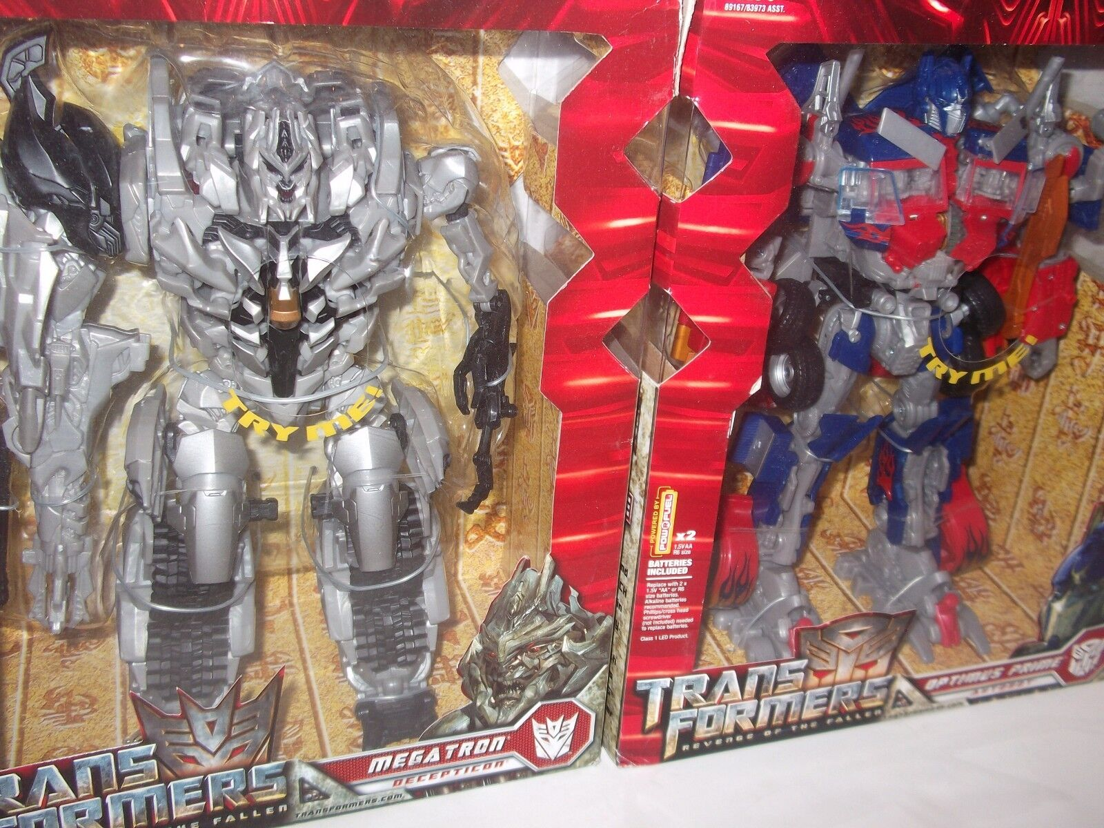 Transformers Revenge Of The Fallen redF Leader Class LOT OPTIMUS & MEGATRON MISB