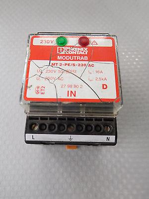 Hell Phoenix Contact Mt 2-pe/s-230 Ac Überspannungsgeräteschutz Art. - Nr. 27 98 80 2