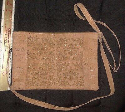 Handmade Cork crossbody bag vegan sustainable organic eco friendly gifts us seller lightweight durable waterproof purse shoulder bag