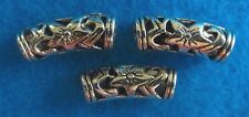 5 Tibetan Silver FLORAL TUBE Spacer Beads Jewelrys Findin 20 mm x 18 mm