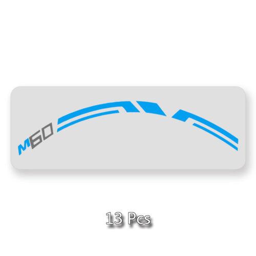Mountain bike Wheel Rim Sticker for EVNE MTB M60 Santa Cruz replacement decal