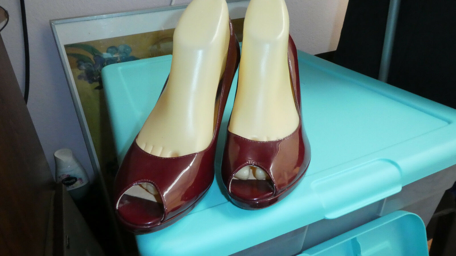 COLE HAAN collection beautiful burgundy red brown brown brown heels open toe size 10 f34251