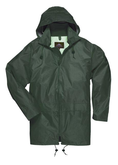 Portwest US440 100/% Polyester Classic Waterproof Seams Breathability Rain Jacket