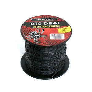 Great Black 100M Super Strong Dyneema Spectra Braid Sea Fishing Line New