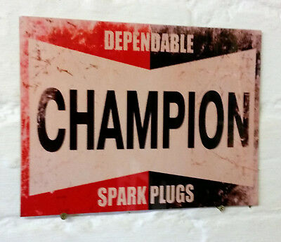 dependable service spark plug Retro metal Aluminium Sign vintage car garage