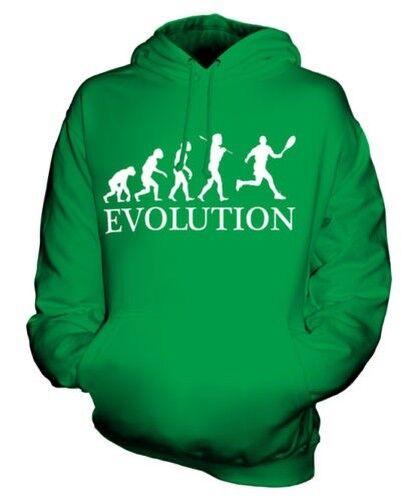 TENNIS EVOLUTION OF MAN UNISEX HOODIE MENS WOMENS LADIES GIFT RACQUET CLOTHING