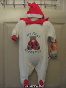 9ad18138e6743 Infant Little Me My First Christmas Bear Velour Sleeper + Hat 6 ...