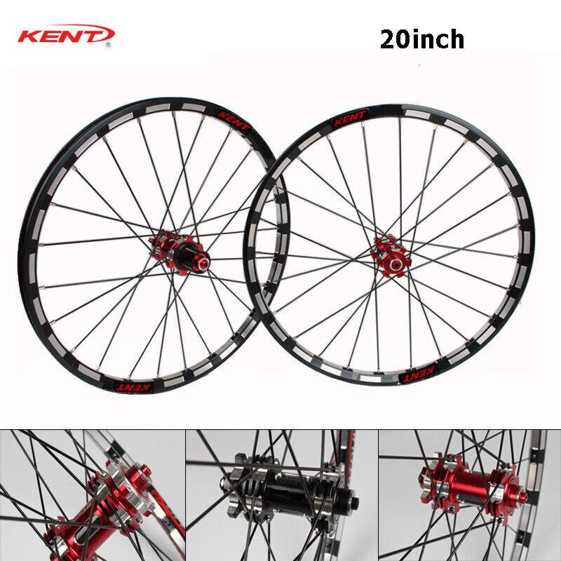 20  Folding Bike Front Rear Wheelset 8 9 10 11S Straight Pull Hub Wheels Rim 406