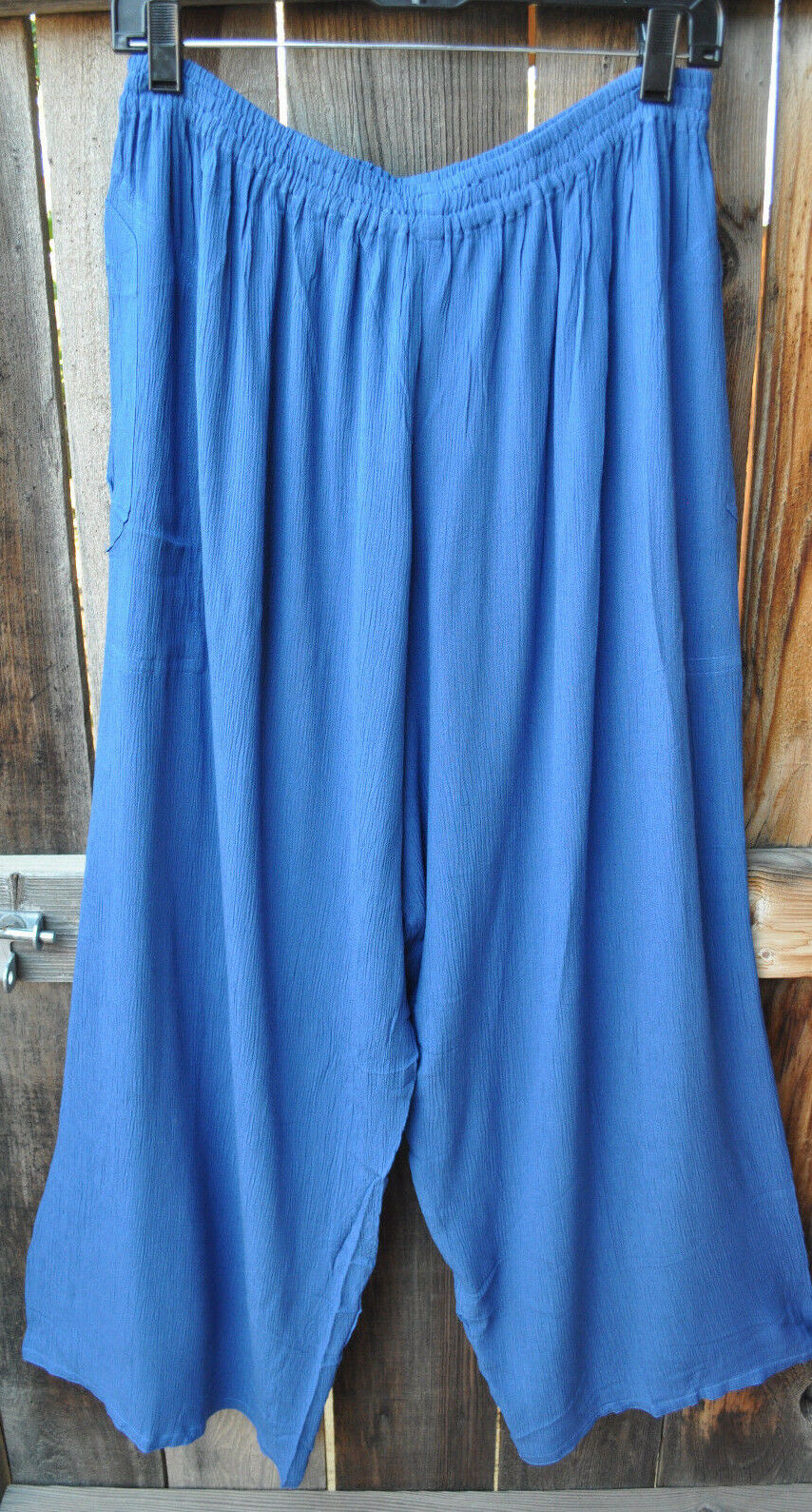 ART TO WEAR ANACAPA PANTS IN NEW SOLID AZTEC blueE BY MISSION CANYON, OS+, NWT ,