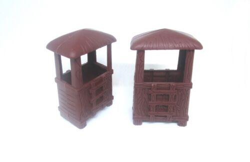 2pcs MILITARY OUTPOST 8cm (hard plastic) Blockhouse