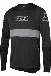 Fox-Racing-Defend-Long-Sleeve-L-S-Fox-Jersey-Black