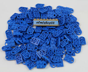 LEGO - 3x2 Blue Plates w/ Hole - Heart Charm Love Valentine Coupling Lot 3176
