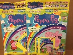 PEPPA PIG MY FAVOURITE THINGS STICKER ALBUM STARTER PACK PEPPA PIG STICKER PACKS