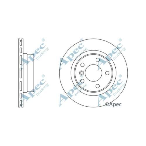 Fits BMW 3 Series E92 320i GENUINE OE QUALITY APEC Arrière Ventilé Disques de frein Set