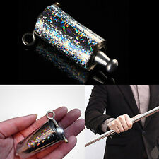 Appearing Cane Metal Silver Magic Tricks Close Up Illusion Silk to Wand