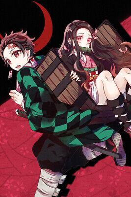"Demon Slayer Nezuko Zenitsu 36/"" x 24/"" Large Wall Poster Print Comic Decor Anime"