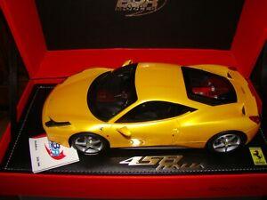 Ferrari 458 Italia Jaune Tristrato Bbr 1/18 Eme Limited Edition Superbe Rar