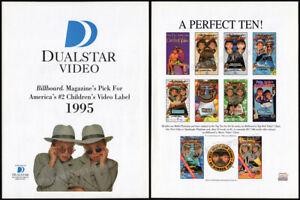 ADVENTURES-of-MARY-KATE-amp-ASHLEY-Olsen-Twins-Original-1996-Trade-print-AD-promo
