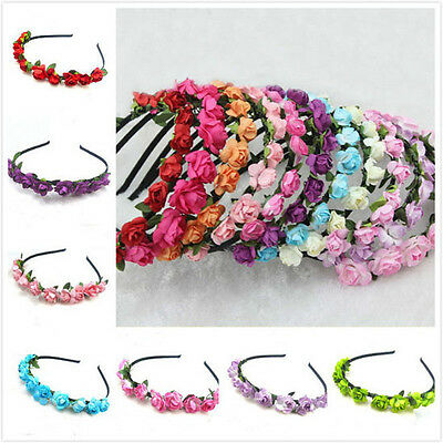 Women Beach Hair Band Style Flower Headband Hair Hoop Jewelry Gift Accessories