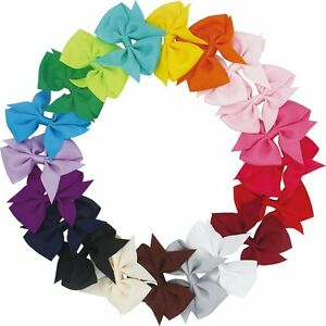 Lot-20pcs-3-5-Inch-Baby-Hair-Bows-For-Girls-Kids-Hair-Bands-Alligator-Hair-Clips