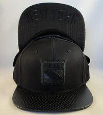 NHL New York Rangers Custom Snapback Hat Cap Zephyr Black