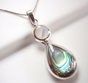 Reversible-Abalone-and-Mother-of-Pearl-925-Sterling-Silver-Pendant