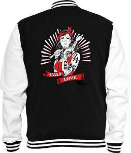 Tattoo Cali Love Biker College Sweat Gangster La California Jacke 8wRPtqaq