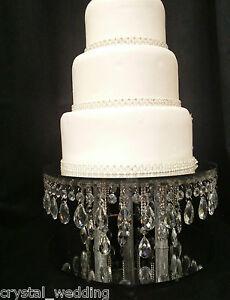 Détails Sur Pluie Goutte Cristal Gâteau Stand Gâteaux De Mariage Pour En Clair Blanc Ou En Or En Cristal Afficher Le Titre Dorigine