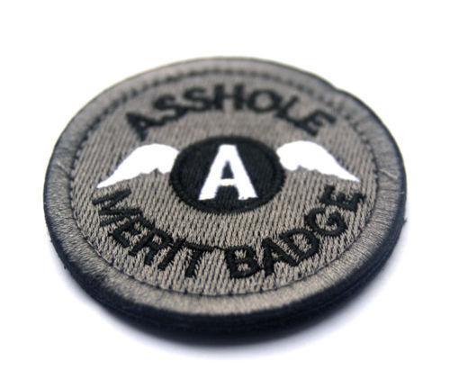"BuckUp Tactical Morale Patch Hook A-Hole Merit Badge 2.5/"" ACU"