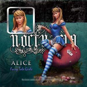 80-mm-Beaute-Alice-Figure-Modele-non-peinte-Resine-garage-kit-avec-champignon-Base-Nouveau
