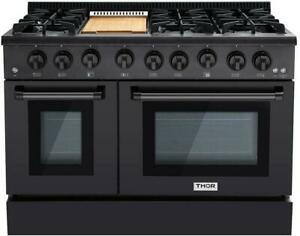 Details about NIB Thor Kitchen 48 Inch BS 6 Burner Professional Double Oven  Range HRG4808BS