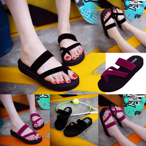 287be149d90 Summer Womens Casual Beach Open Toe Shoes Lady Flip Flops Slippers ...