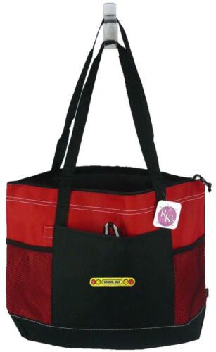 School Bus Lights Monogram Gemline Bag Red Zipper Tote Student New Driver Gift