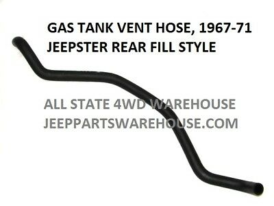 JEEP JEEPSTER COMMANDO FUEL FILLER /& VENT HOSES WITH ADAPTER 1967-71 REAR FILL