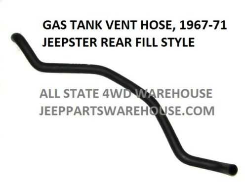 """1967-1971 Jeep Commando Vent Hose for /""""Rear Fill/"""" Style Gas Tank."""