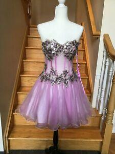 new jovani 9883 purple corset party pageant sweet 16 short
