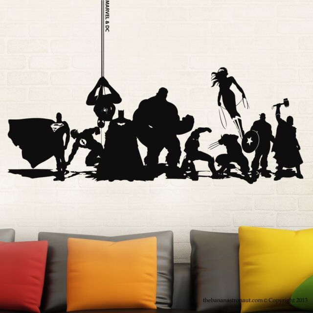 Marvel & DC Avengers Wall Decal Stickers Collection Decor Sticker Decal