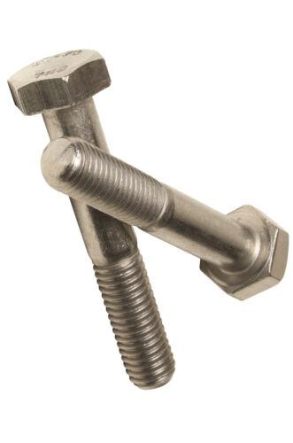 M6 x 50 Hexagon Head Bolt Part Thread Bolts A2 Stainless DIN 931-4 pack