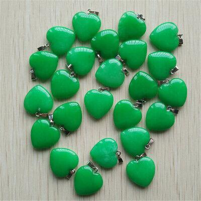 50pcs Gray Agate Heart-shaped Pendant Pendant Bead Wholesale Natural Stone 20mm
