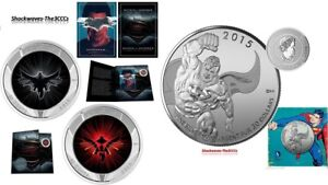 2016-DAWN-OF-JUSTICE-Batman-V-Superman-Lenticular-amp-20-Silver-Superman-Coin-SET