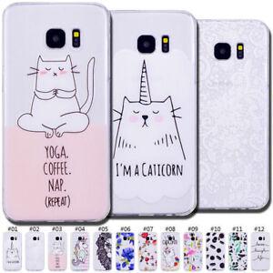 Cute-Clear-Rubber-Skin-Soft-Slim-Back-TPU-Case-Cover-For-Samsung-Galaxy-S7-edge