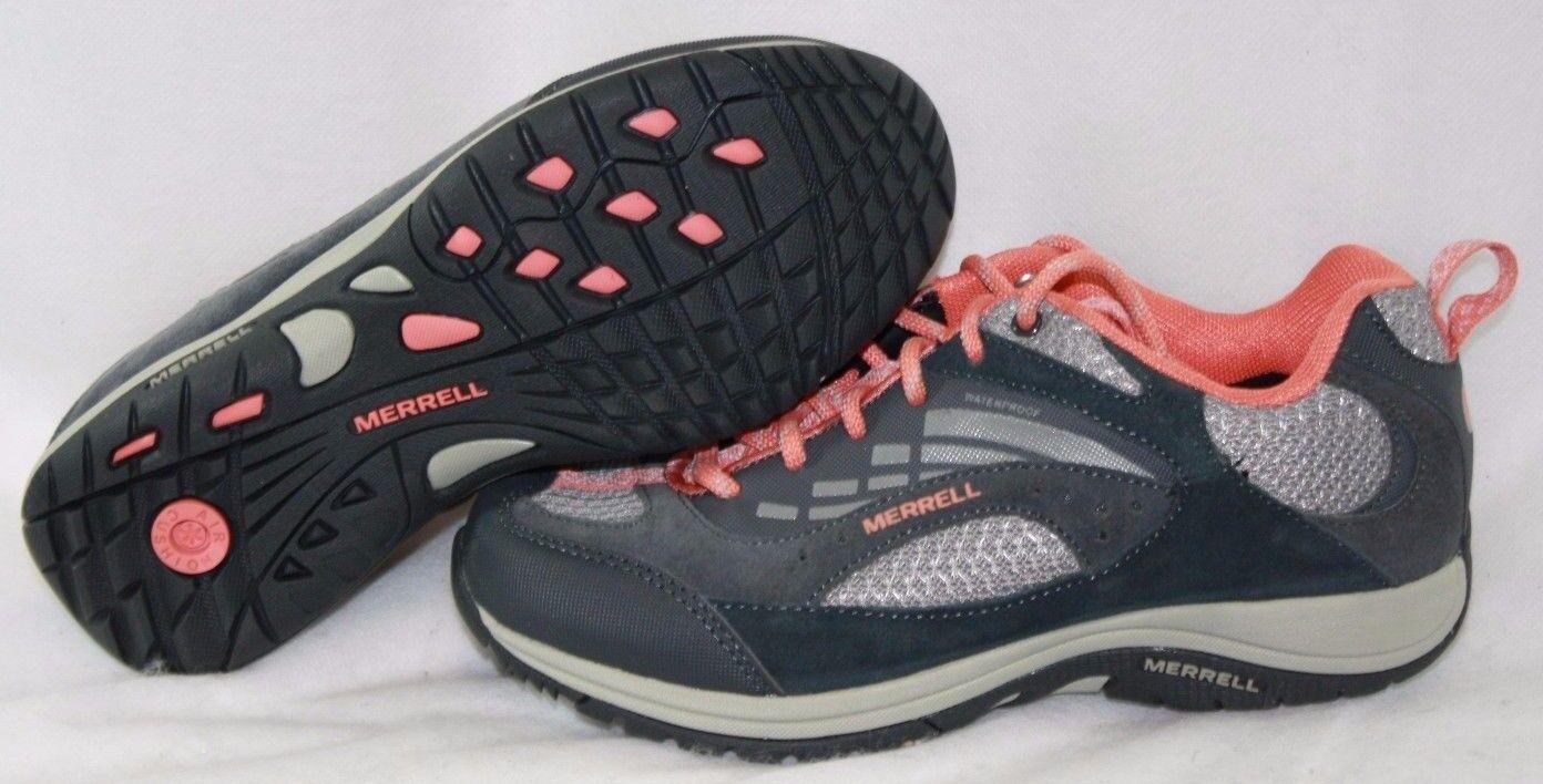 NEW Femme MERRELL Zeolite Blaze Waterproof J211039C  Gris  Coral Sneakers Chaussures