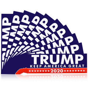 10Pcs-2020-Trump-Sticker-Political-Keep-USA-America-Great-for-President-Bumper
