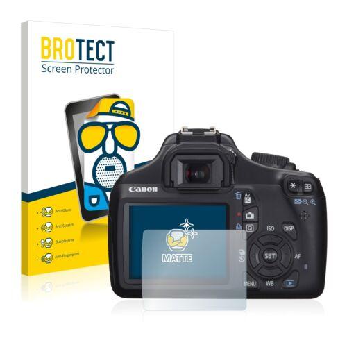 2x Display Schutz Folie für Canon EOS 1100D Matt Entspiegelt