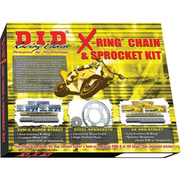 DKS-012G 530ZVM-X Gold Chain and 17//42T Sprocket Kit D.I.D.