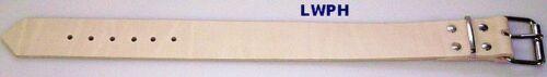 2 correa de piel natural 4,0 x 65,0 cm de largo con hebilla de ruedas para perfectamente punzieren