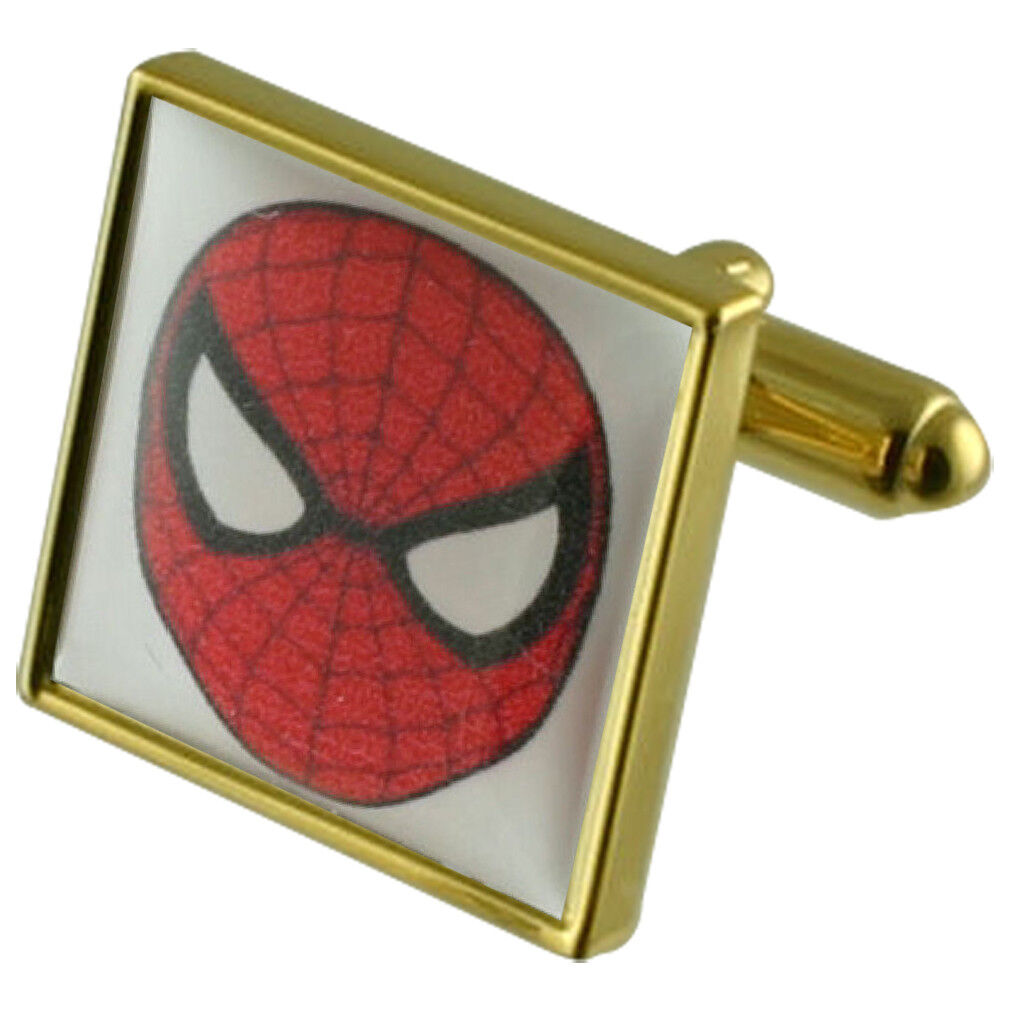 Film Spiderman Eroe oro Gemelli Quadrati con con con Custodia INCISO PERSONALIZZATO ae60f7