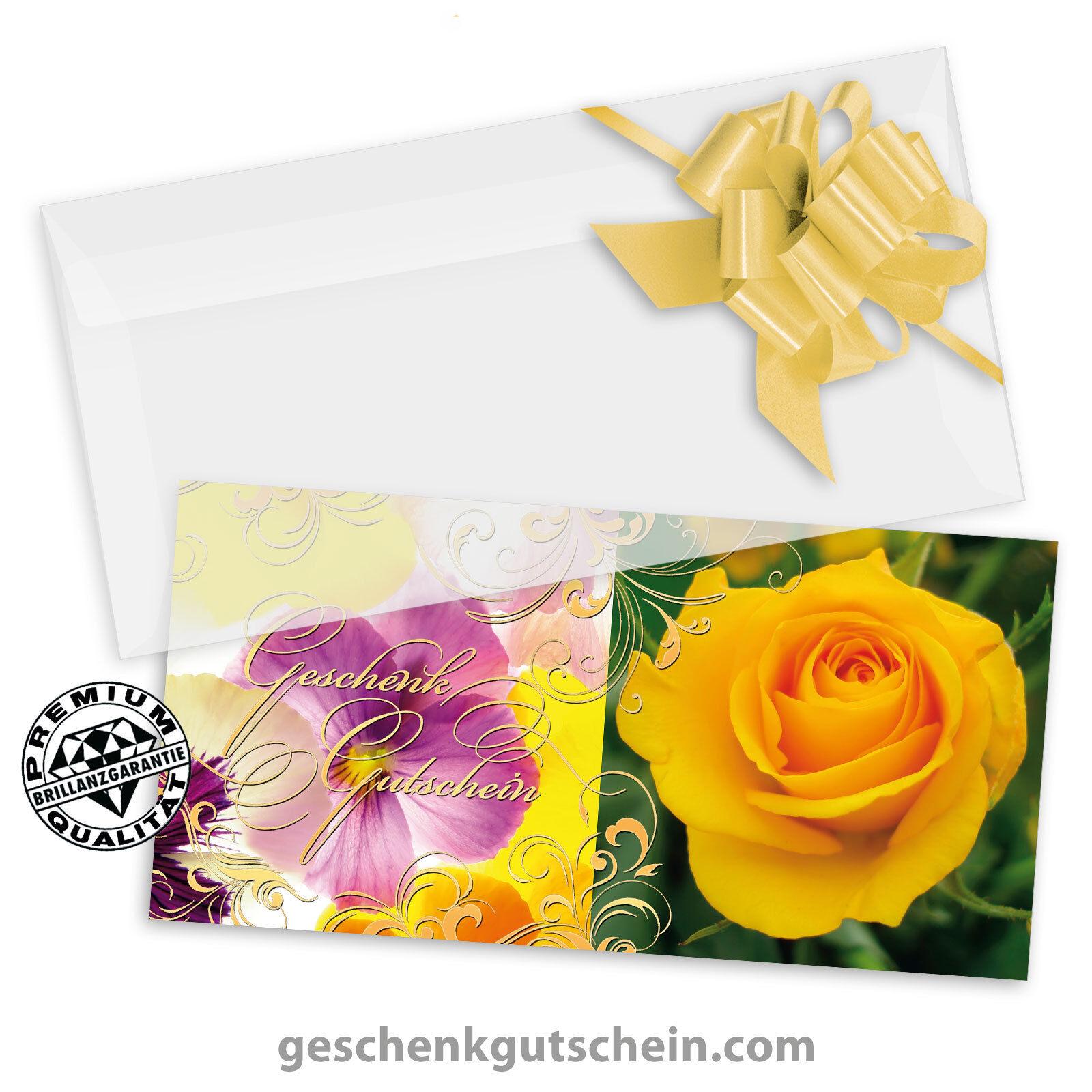 Gutscheinkarten  DINlang  mit KuGrüns und Schleifen für alle Anlässe BL9701